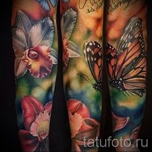 тату реализм цветы - фото вариант от 21122015 № 1