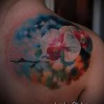 тату реализм цветы - фото вариант от 21122015 № 4