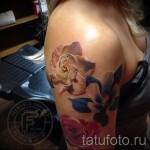 тату реализм цветы - фото вариант от 21122015 № 5