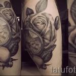 тату роза и часы - фото вариант от 15122015 № 13