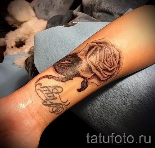 тату роза на запястье - фото вариант от 15122015 № 1