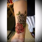 тату роза на запястье - фото вариант от 15122015 № 14