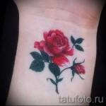тату роза на запястье - фото вариант от 15122015 № 16
