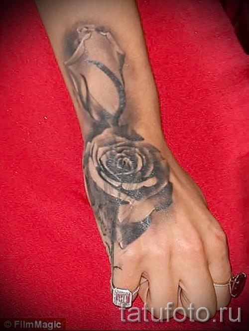тату роза на запястье - фото вариант от 15122015 № 5