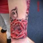 тату роза на запястье - фото вариант от 15122015 № 9