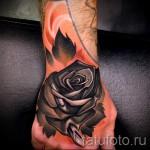 тату роза на кисти руки - фото вариант от 15122015 № 5