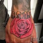 тату роза на кисти - фото вариант от 15122015 № 12