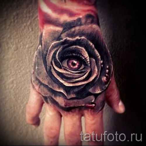 тату роза на кисти - фото вариант от 15122015 № 13