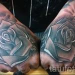 тату роза на кисти - фото вариант от 15122015 № 15