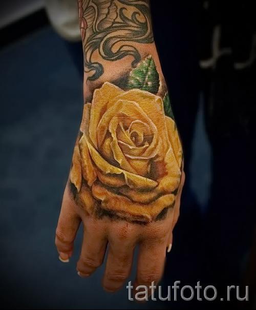 тату роза на кисти - фото вариант от 15122015 № 19