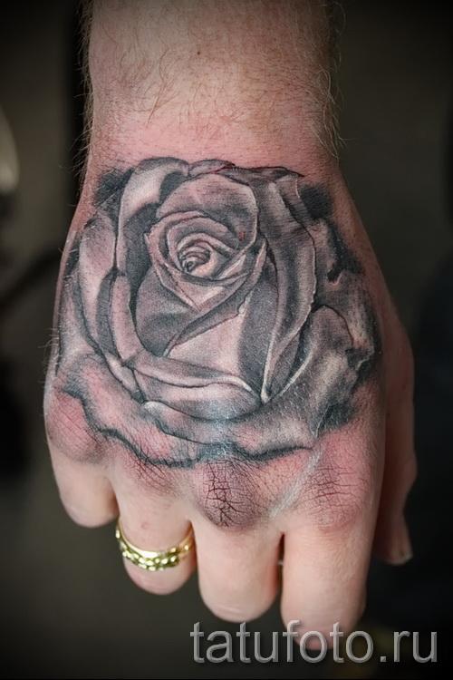 тату роза на кисти - фото вариант от 15122015 № 2