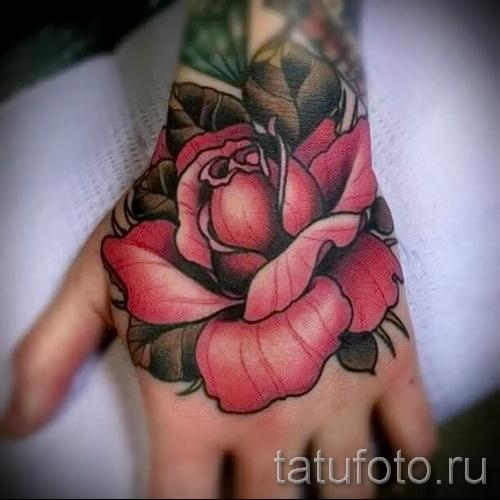 тату роза на кисти - фото вариант от 15122015 № 20