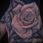 тату роза на кисти - фото вариант от 15122015 № 25
