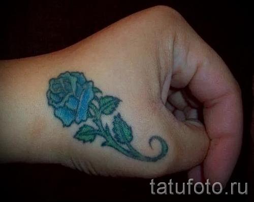 тату роза на кисти - фото вариант от 15122015 № 26