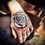 тату роза на кисти - фото вариант от 15122015 № 28