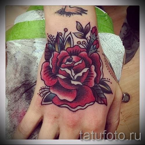 тату роза на кисти - фото вариант от 15122015 № 29