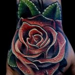 тату роза на кисти - фото вариант от 15122015 № 3