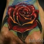 тату роза на кисти - фото вариант от 15122015 № 41