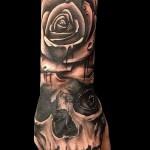 тату роза на кисти - фото вариант от 15122015 № 43