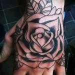 тату роза на кисти - фото вариант от 15122015 № 9