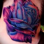 тату роза на шее - фото вариант от 15122015 № 15