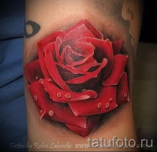тату роза реализм - фото вариант от 15122015 № 5