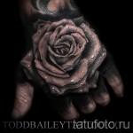 тату роза реализм - фото вариант от 15122015 № 6