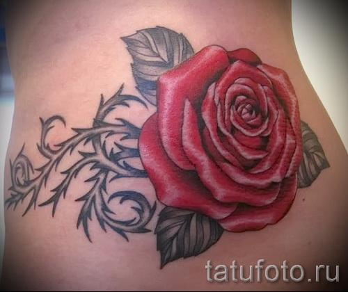тату роза с шипами - фото вариант от 15122015 № 1