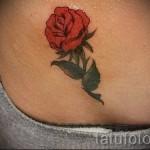 тату розы на бедре - фото вариант от 15122015 № 5