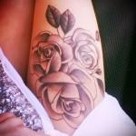 тату розы на ляшках - фото вариант от 15122015 № 1