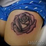 тату розы на ляшках - фото вариант от 15122015 № 13