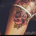 тату розы на ляшках - фото вариант от 15122015 № 14