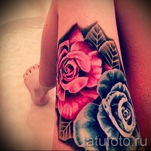 тату розы на ляшках - фото вариант от 15122015 № 21
