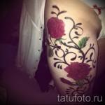 тату розы на ляшках - фото вариант от 15122015 № 24