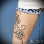 тату розы на ляшках - фото вариант от 15122015 № 25