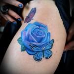 тату розы на ляшках - фото вариант от 15122015 № 26