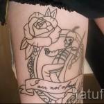тату розы на ляшках - фото вариант от 15122015 № 27