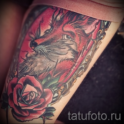 тату розы на ляшках - фото вариант от 15122015 № 28