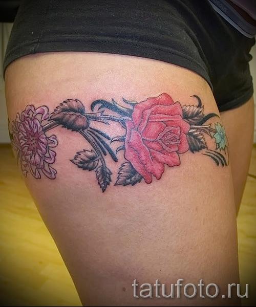 тату розы на ляшках - фото вариант от 15122015 № 29