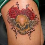 тату розы на ляшках - фото вариант от 15122015 № 31