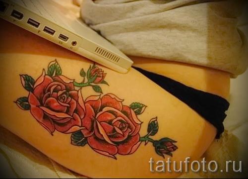 тату розы на ляшках - фото вариант от 15122015 № 7