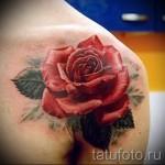 тату розы на плече - фото вариант от 15122015 № 1