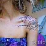 тату розы на плече - фото вариант от 15122015 № 12