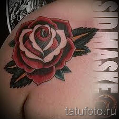 тату розы на плече - фото вариант от 15122015 № 4
