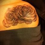 тату розы на плече - фото вариант от 15122015 № 7