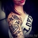 тату розы на плече - фото вариант от 15122015 № 9