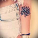 тату розы на руке у девушек - фото вариант от 15122015 № 7