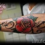 тату розы на руке - фото вариант от 15122015 № 10