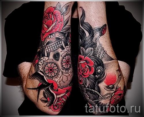 тату розы на руке - фото вариант от 15122015 № 16