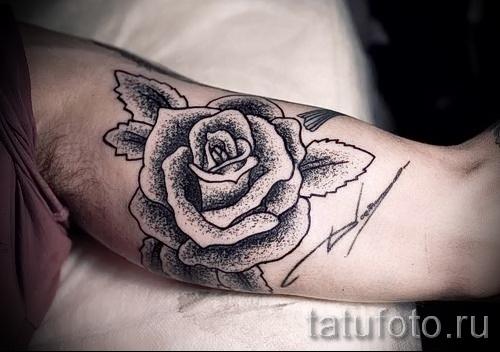 тату розы на руке - фото вариант от 15122015 № 20